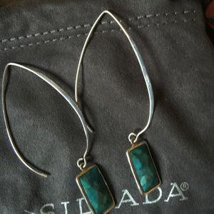 "SILPADA Turquoise ""OASIS"" Wire Earings W3379"